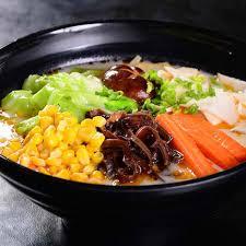 Vegetable Noodle Soup 仙菇菜汤面/粉